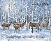 Dona Gelsinger, CHRISTMAS ANIMALS, WEIHNACHTEN TIERE, NAVIDAD ANIMALES, paintings+++++,USGE1409C,#xa# ,deer,deers,