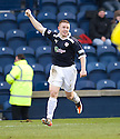 JOHN BAIRD CELEBRATES  AFTER HE SCORES RAITH'S THIRD