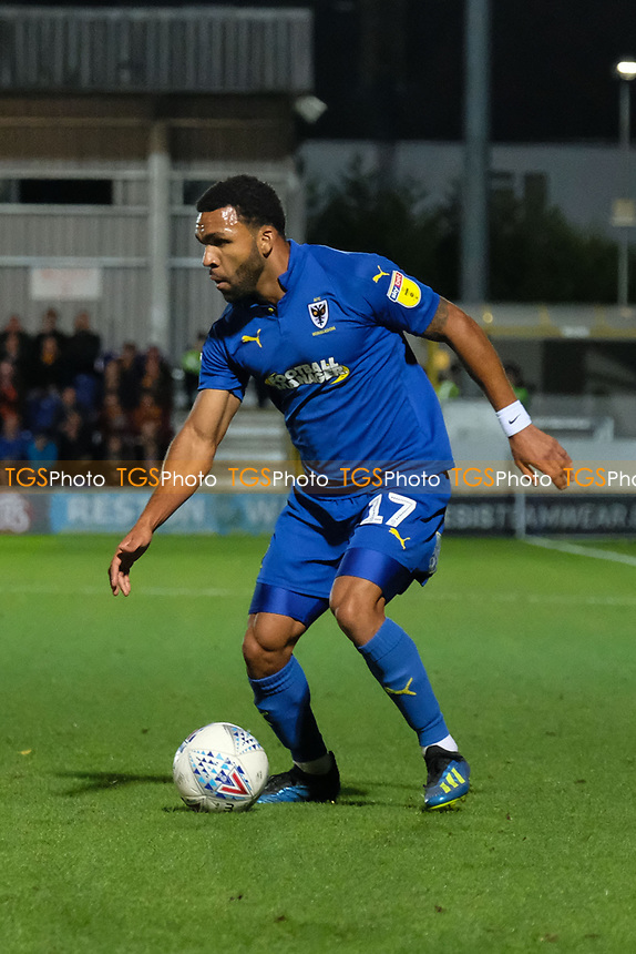 Andy Barcham of AFC Wimbledon during AFC Wimbledon vs Bradford City, Sky Bet EFL League 1 Football at the Cherry Red Records Stadium on 2nd October 2018
