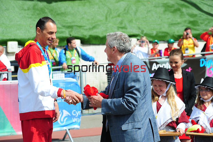 IPC European Athletics Championship 2014<br /> Swansea University<br /> <br /> Medal ceremony: Men's 800m T36<br /> <br /> 21.08.14<br /> Chris Vaughan-SPORTINGWALES