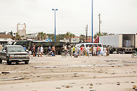 Relief comes to help people follwoing Hurricane Ike, Galveston Texas