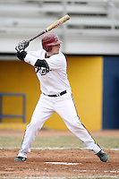 March 22nd 2009:  Catcher Sean Olson (32) of the Rider University Broncs during a game at Sal Maglie Stadium in Niagara Falls, NY.  Photo by:  Mike Janes/Four Seam Images