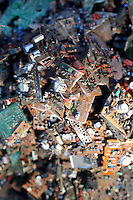 Piles of used electronics in a village near Kolkata whose residents recycle E-Waste.<br />