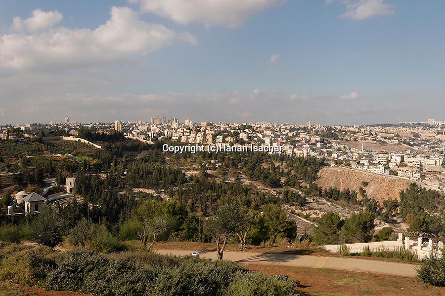 Israel, Haas promenade in Jerusalem