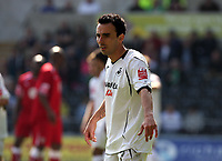 ATTENTION SPORTS PICTURE DESK<br /> Pictured: Leon Britton of Swansea<br /> Re: Coca Cola Championship, Swansea City FC v Bristol City FC at the Liberty Stadium Swansea, south Wales. Saturday 18 April 2009.<br /> Picture by D Legakis Photography / Athena Picture Agency, Swansea 07815441513