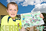 ART ATTACK: Joseph Murphy from Boheshill National School in Glencar who was the the Kerry winner in the MACE/Road Safety Authority Cycle Safely to School Art competition.   Copyright Kerry's Eye 2008