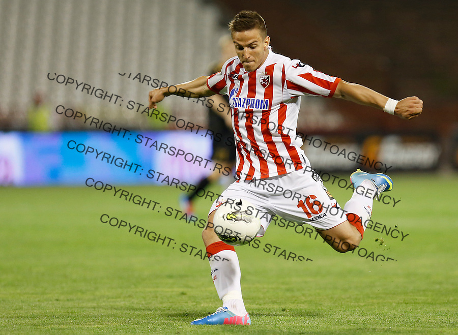 Fudbal Super liga season 2012-2013.Crvena Zvezda v Donji Srem.Luka Milunovic.Beograd, 04.27.2013..foto: Srdjan Stevanovic/Starsportphoto ©