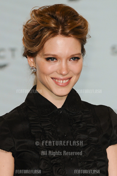 "Lea Seydoux at the announcement of the start of filming on the new James Bond movie ""Spectre"" at Pinewood Studios, London. 04/12/2014 Picture by: Steve Vas / Featureflash"