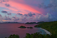 Trunk Bay Sunset<br /> St. John<br /> Virgin Islands National Park