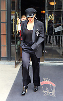 www.acepixs.com<br /> <br /> April 27 2017, New York City<br /> <br /> Singer Rita Ora wears a military style hat and black jacket as she leaves a downtown hotel on April 27 2017 in New York City<br /> <br /> By Line: Zelig Shaul/ACE Pictures<br /> <br /> <br /> ACE Pictures Inc<br /> Tel: 6467670430<br /> Email: info@acepixs.com<br /> www.acepixs.com