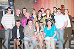 Kevin Moyhihan, Firies (seated front) celebrates his 21st birthday with his family and friends in The Granary Bar, Killarney, on Saturday night..