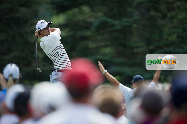 Adam Scott nails his drive on the 7th during the opening round of the PGA Championship at Oak Hill Country Club (Photo: Anthony Powter) www.golffile.ie