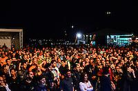 ATENCAO EDITOR: FOTO EMBARGADA PARA VEICULOS INTERNACIONAIS. - RIO DE JANEIRO, RJ,14 DE SETEMBRO 2012 - RIO HARLEY DAYS 2012- Nasi e Marcelo Nova na abertura do Harley Days 2012, sucesso na Espanha, Franca, Alemanha e Croacia, o evento desembarca para sua segunda edicao no Brasil, na Marina da Gloria, na Gloria, zona sul do Rio de Janeiro.(FOTO: MARCELO FONSECA / BRAZIL PHOTO PRESS).