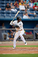 Biloxi Shuckers Luis Aviles Jr. (11) at bat during a Southern League game against the Montgomery Biscuits on May 8, 2019 at MGM Park in Biloxi, Mississippi.  Biloxi defeated Montgomery 4-2.  (Mike Janes/Four Seam Images)