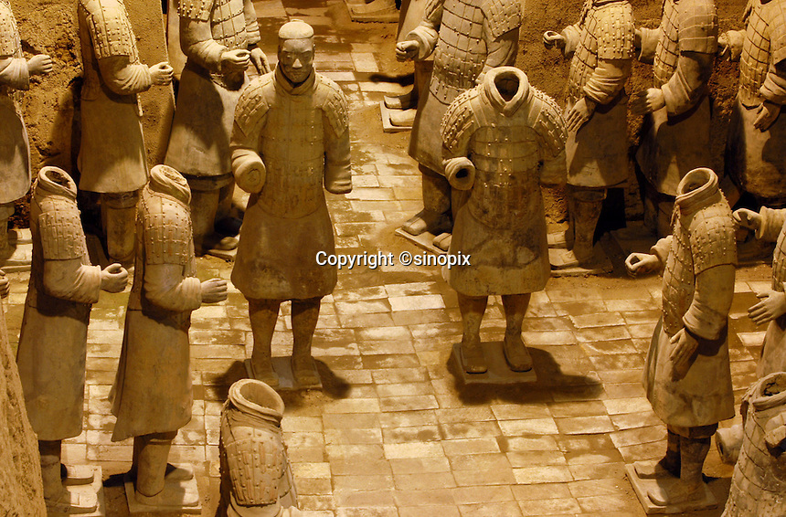 Terracotta warriors in Xi'an, Shaanxi province, China.