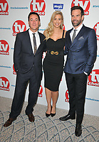 Dave Vitty (Comedy Dave), Gemma Atkinson and Gethin Jones at the TV Choice Awards 2018, The Dorchester Hotel, Park Lane, London, England, UK, on Monday 10 September 2018.<br /> CAP/CAN<br /> &copy;CAN/Capital Pictures