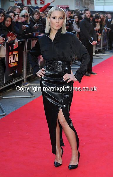 NON EXCLUSIVE PICTURE: PAUL TREADWAY / MATRIXPICTURES.CO.UK<br /> PLEASE CREDIT ALL USES<br /> <br /> WORLD RIGHTS<br /> <br /> Swedish actress Noomi Rapace attends The 58th BFI London Film Festival Premiere of The Drop, Odeon Leicester Square, London.<br /> <br /> OCTOBER 11th 2014<br /> <br /> REF: PTY 144379