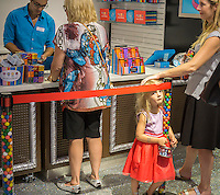 Customers at the grand opening of Dylan's Candy Bar in Union Square in New York on Tuesday, September 1, 2015. The new store, a downtown outpost of the Upper East Side flagship, is 3300 square feet in a high foot traffic location. Despite the candy, the average age of a Candy Bar customer is 30 years old.  (© Richard B. Levine)