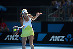 Caroline Wozniacki (DEN) wins at Australian Open in Melbourne Australia on 17th January 2013