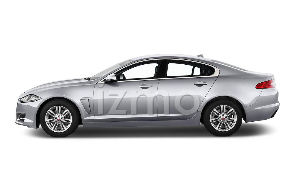 Car Driver side profile view of a 2015 Jaguar XF 2.2D 163 auto 4 Door Sedan 2WD Side View
