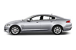 Car Driver side profile view of a 2015 Jaguar XF 2.2D 163 auto 4 Door Sedan 2WD Side View