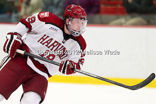 Jimmy Vesey (Harvard - 19) - The Harvard University Crimson defeated the visiting Rensselaer Polytechnic Institute Engineers 4-0 (EN) on Saturday, November 10, 2012, at Bright Hockey Center in Boston, Massachusetts.