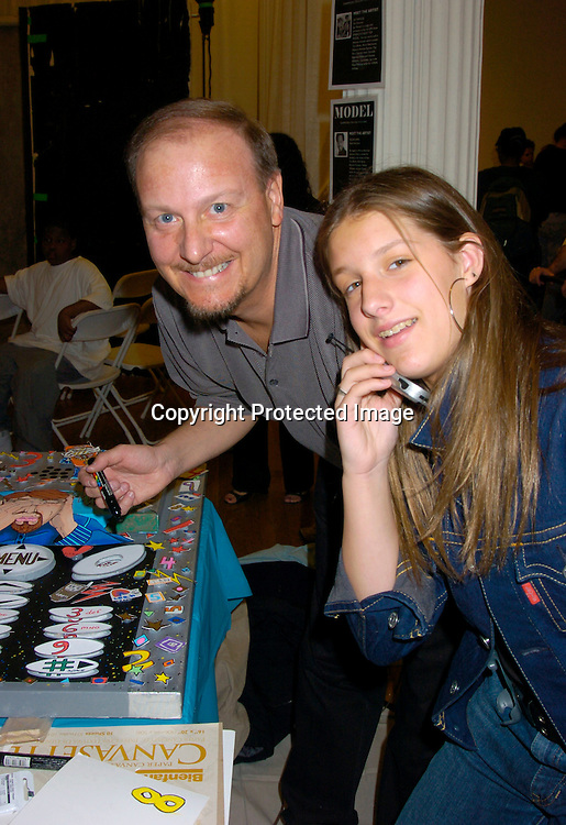 "Charles Fazzini and daughter ..at the 3rd Annual ""Children's Day Artrageous"" on April 25, 2004 benefitting Edwin Gould Services for Children and ..Families at The Metropolitan Pavilion in New York City...Photo by Robin Platzer, Twin Images"