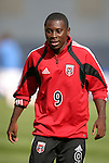 3 April 2004: Fourteen year old Freddy Adu warms up before the game. DC United defeated the San Jose Earthquakes 2-1 at RFK Stadium in Washington, DC on opening day of the regular season in a Major League Soccer game...