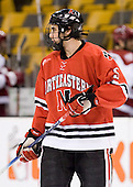 Louis Liotti (NU - 5) - The Northeastern University Huskies defeated the Harvard University Crimson 3-1 in the Beanpot consolation game on Monday, February 12, 2007, at TD Banknorth Garden in Boston, Massachusetts.