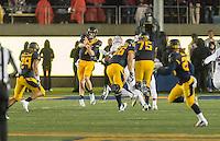 Berkeley, Ca - November 19, 2016: The Cal Bears vs the Stanford Cardinal at California Memorial Stadium. Final score Cal Bears 31, Stanford Cardinal 45.