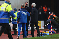 Swansea City manager Paul Clement shakes hands with Stoke City manager Mark Hughes during the Premier League match between Stoke City and Swansea City at the bet365 Stadium, Stoke on Trent, England, UK. Saturday 02 December 2017