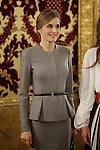 Queen Letizia of Spain receives King Abdullah II of Jordan and Queen Rania of Jordan at Royal Palace in Madrid, Spain. November 20, 2015. (ALTERPHOTOS/Pool)