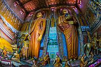 Buddha statue, Wewurukannala Vihara (Buddhist temple), Dikwela, Southern Province, Sri Lanka.