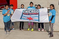 Bridgeview, IL - Sunday June 12, 2016: Fans during a regular season National Women's Soccer League (NWSL) match between the Chicago Red Stars and the Portland Thorns at FC Toyota Park.
