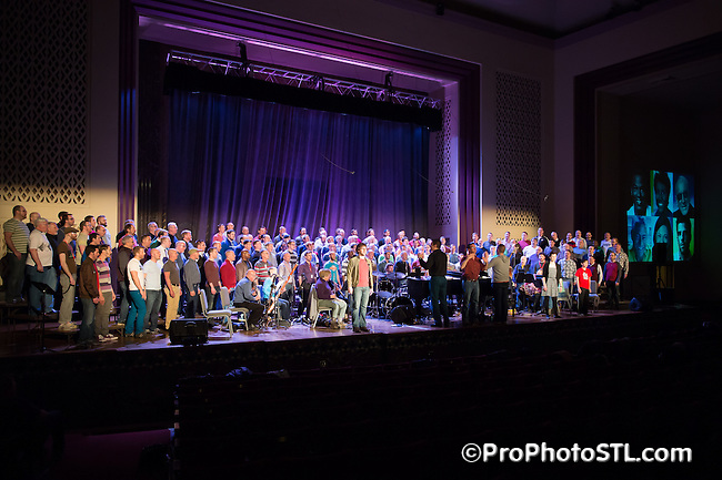Gateway Men's Chorus and Heartland Men's Chorus presenting Harvey Milk show at 560 Music Center in St. Louis, MO on Apr 4, 2014.