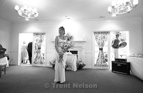 Sarah Pendleton at Ted Hansen and Sarah Pendleton's wedding.<br />