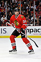 JOHN SCOTT,  of the Chicago Blackhawks in action  during the Blackhawks game against the Calgary Flames at the United Center in Chicago, IL.  The Chicago Blackhawks beat the Calgary Flames 4-2 in Chicago, Illinois on December 5, 2011....