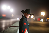 Nov 8, 2018; Pomona, CA, USA; NHRA top fuel driver Steve Torrence poses for a portrait prior to the Auto Club Finals at Auto Club Raceway. Mandatory Credit: Mark J. Rebilas-USA TODAY Sports