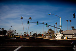 An intersection in Sun City, AZ.