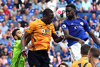 Wilfred Ndidi of Leicester City and Willy Boly of Wolverhampton Wanderers during Leicester City vs Wolverhampton Wanderers, Premier League Football at the King Power Stadium on 11th August 2019