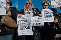 Protesta della comunità ucraina  contro la Russia