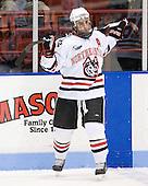 Chris Donovan (NU - 23) - The Northeastern University Huskies defeated the Boston College Eagles 3-2 on Friday, February 19, 2010, at Matthews Arena in Boston, Massachusetts.