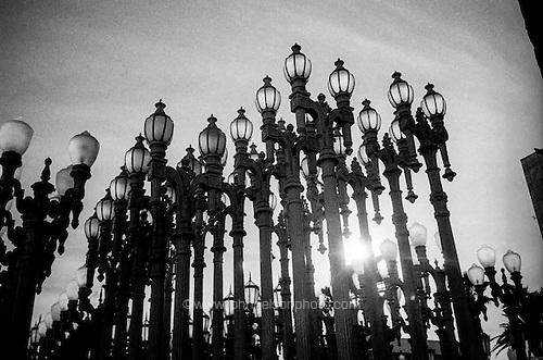 Urban Light, scuplture by Chris Burden at LACMA, Los Angeles, CA.