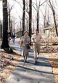 United States President Ronald Reagan, right, confers with Prime Minister Margaret Thatcher of the United Kingdom, left, at Camp David near Thurmont, Maryland on Saturday, December 22, 1984.  Thatcher died from a stroke at 87 on Monday, April 8, 2013..Credit: Mary Anne Fackelman-White House via CNP