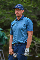 Hunter Mahan (USA) watches his tee shot on 14 during Round 3 of the Valero Texas Open, AT&T Oaks Course, TPC San Antonio, San Antonio, Texas, USA. 4/21/2018.<br /> Picture: Golffile | Ken Murray<br /> <br /> <br /> All photo usage must carry mandatory copyright credit (© Golffile | Ken Murray)