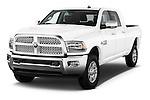 2015 Ram 2500 Laramie 4 Door Truck angular front stock photos of front three quarter view