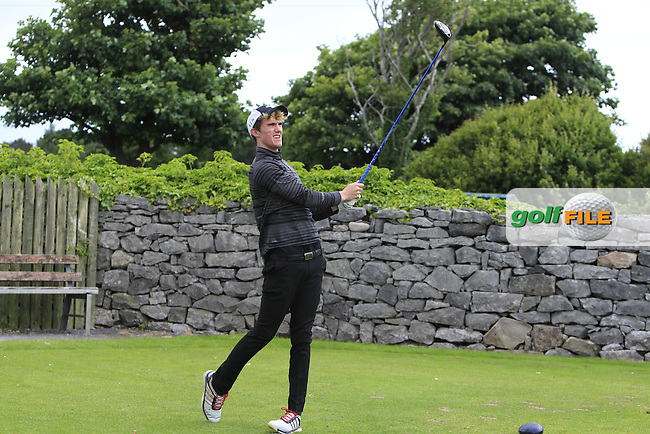Brian Houston (Lisburn) on the 1st tee during R2 of the 2016 Connacht U18 Boys Open, played at Galway Golf Club, Galway, Galway, Ireland. 06/07/2016. <br /> Picture: Thos Caffrey | Golffile<br /> <br /> All photos usage must carry mandatory copyright credit   (&copy; Golffile | Thos Caffrey)
