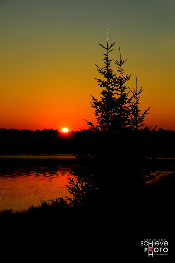 Summer sunset on Spider Lake in northern Wisconsin.