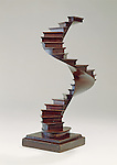 Staircase model, Paris, France, late 19th century; Carved, bent, joined and veneered cherry and walnut; 31 x 13 x 17.2 cm (12 3/16 x 5 1/8 x 6 3/4 in.); Gift of Eugene V. and Clare E. Thaw, 2007-45-8; Cooper Hewitt, Smithsonian Design Museum; Photo by James Hart © Smithsonian Institution