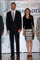 Prince Felipe of Spain and Princess Letizia of Spain attend to the XI Tribute Concert of all the victims of terrorism at Auditorio Nacional in Madrid, Spain. March 03, 2013. (ALTERPHOTOS/Caro Marin) /nortePhoto
